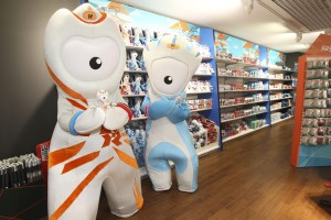 London 2012 Shop opening at Stansted Airport